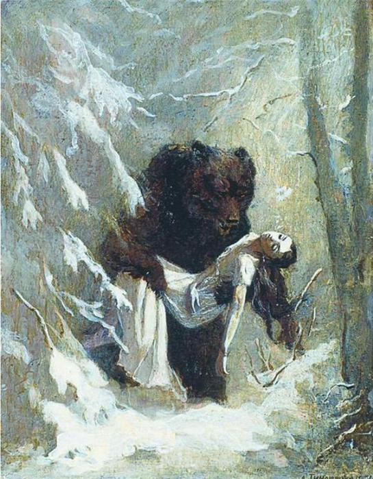 Евгений Онегин Татьяна и медведь
