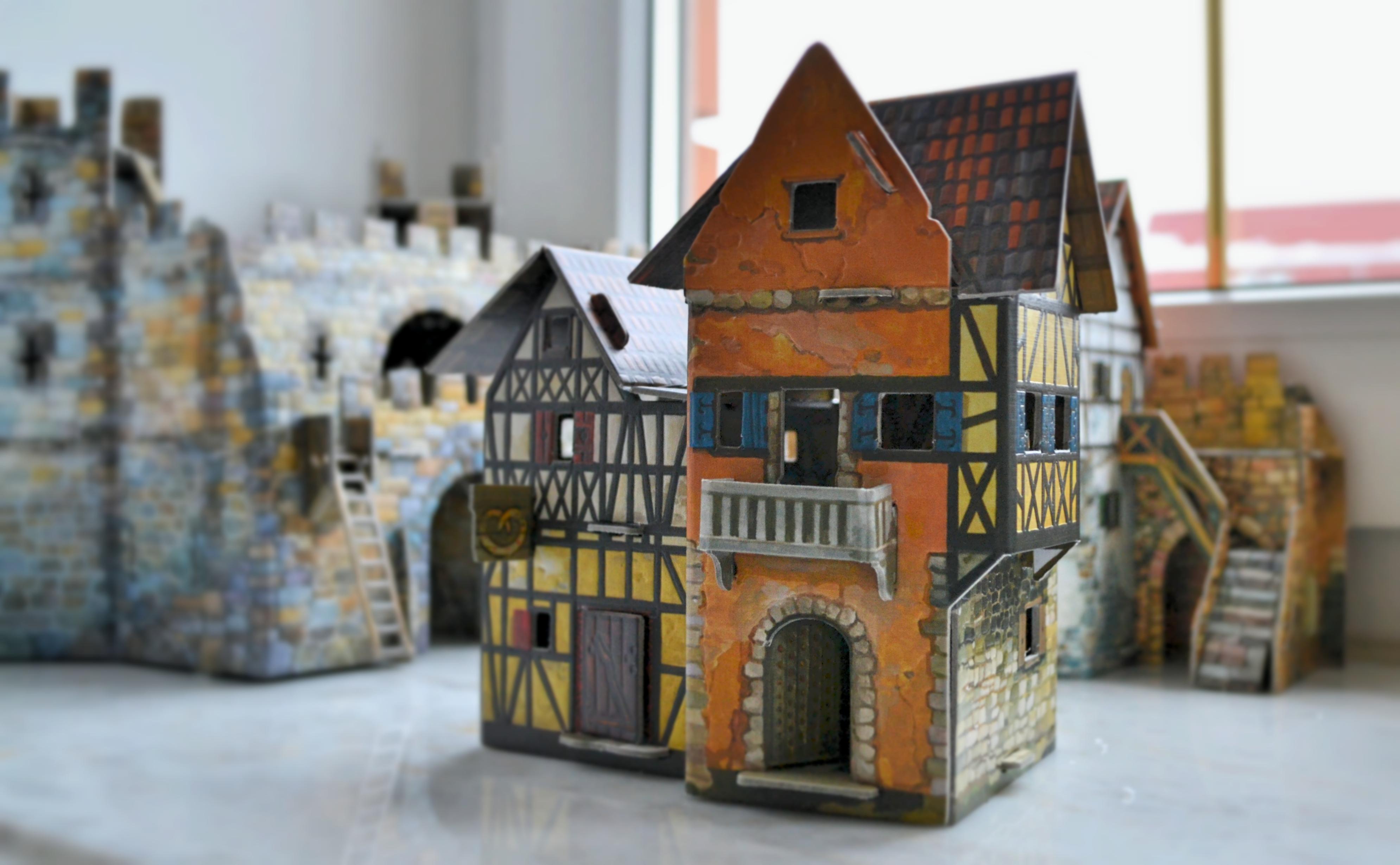 Пекарня средневековый город умная бумага