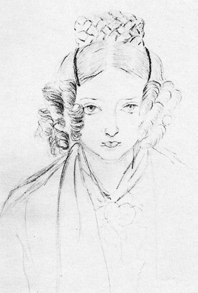 Королева Виктория - автопортрет